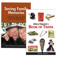 Booklet  Bundle - Saving Family Memories & Book of Trivia - USA/CDA