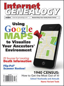 Internet Genealogy Nov 2012 PDF Edition Back Issue USA