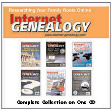Internet Genealogy Complete Years 1 through 8 on one CD Bundle (US Funds)